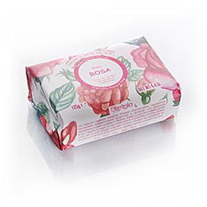 Мыло натуральное растительное с оливковым маслом «Роза»