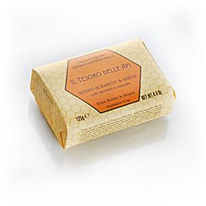 Мыло натуральное растительное с маслом карите и медом