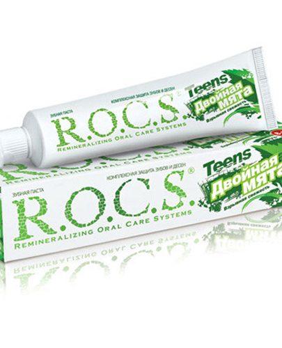 Зубная паста R.O.C.S Teens Двойная мята 74 гр. (Teens 8-18 years)
