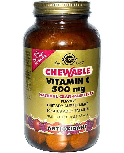 Витамин С 500 с Малиновым вкусом 90 таблеток (Витамины)
