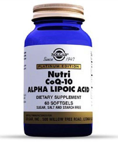 Нутрикоэнзим Q-10 с альфа-липоевой кислотой 60 капсул (Специальные добавки)