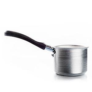 Ковшик алюминиевый с усиленной ручкой для разогрева горячего воска
