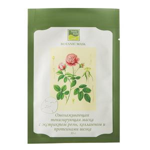 Ботаническая тонизирующая маска с экстрактом розы