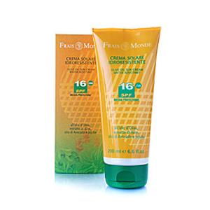 Солнцезащитный водостойкий крем с маслом оливы SPF-16