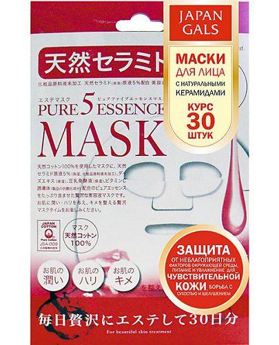 Japan Gals Маска с натуральными керамидами Pure5 Essential 30 шт (Pure5)