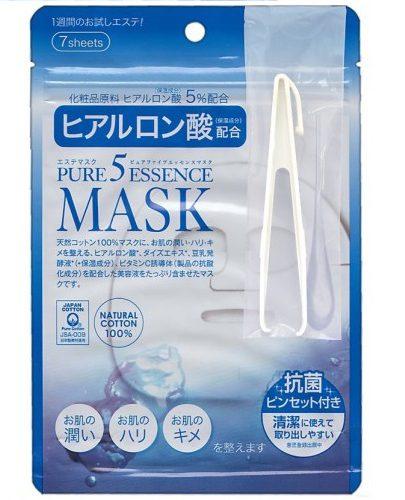 Japan Gals Маска с гиалуроновой кислотой Pure5 Essential 7 шт (Pure5)