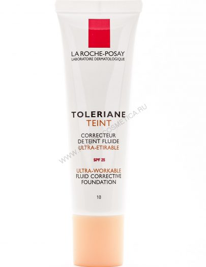 Крем тональный жидкий для чувствительной кожи Толеран Тон Флюид.SPF25. Оттенок 10 слоновая кость. (Toleriane)