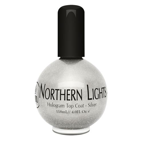 INM Northen Lights Silver Голографическая сушка-закрепитель лака Серебро