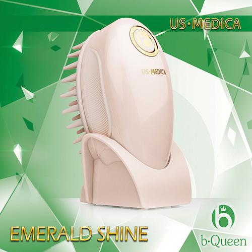 Прибор для мытья и массажа головы US Medica Emerald Shine (розовый) (US Medica)