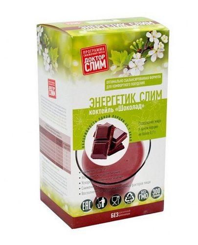 """Коктейль для похудения Энергетик Слим """"Шоколад"""" 300 г (16 порций) (Коктейли)"""