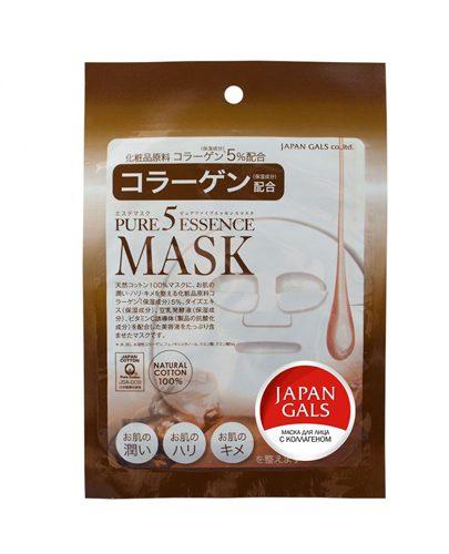 Japan Gals Маска с коллагеном Pure 5 Essential 1 шт. (Pure5)