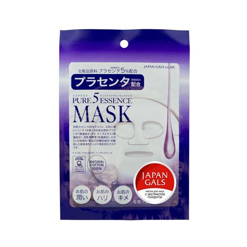Japan Gals Маска с плацентой Pure5 Essential 1 шт. (Pure5)