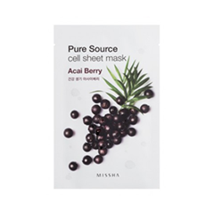 Pure Source Cell Sheet Mask Acai Berry (Объем 21 г)