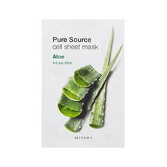 Pure Source Cell Sheet Mask Aloe (Объем 21 г)
