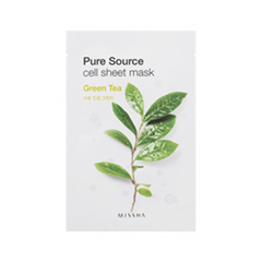 Pure Source Cell Sheet Mask Green Tea (Объем 21 г)