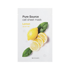 Pure Source Cell Sheet Mask Lemon (Объем 21 г)