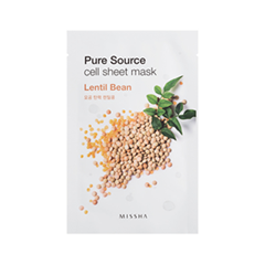 Pure Source Cell Sheet Mask Lentil Bean (Объем 21 г)