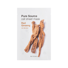 Pure Source Cell Sheet Mask Red Ginseng (Объем 21 г)