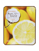Pure Source Sheet Mask Lemon (Объем 21 г)